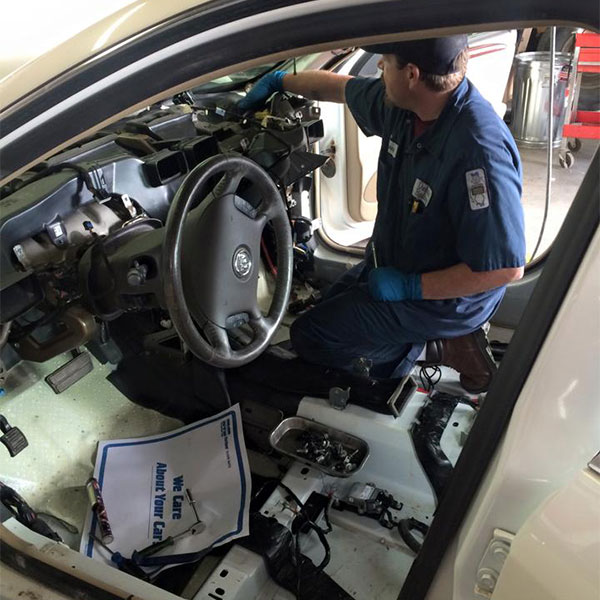 Working Inside a Car
