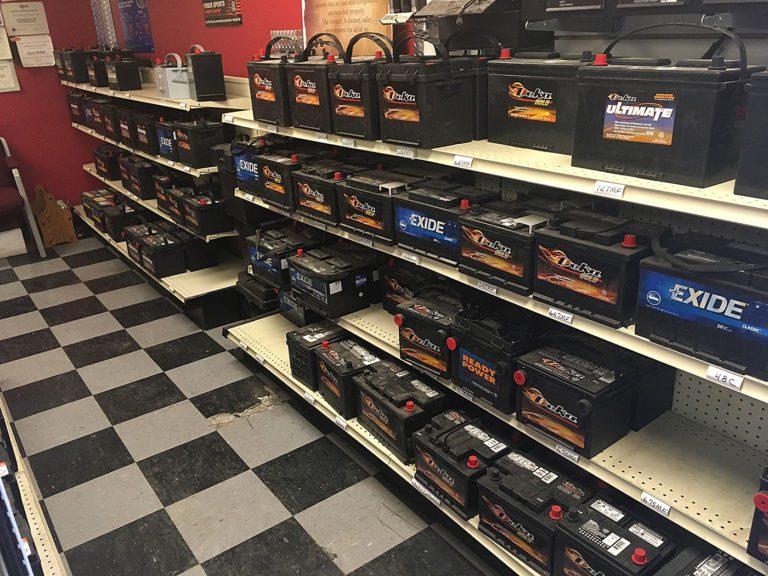Aisle Of Car Batteries