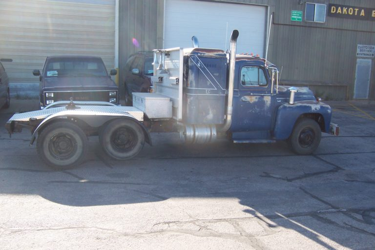 Classic Rig In Front Of Shop