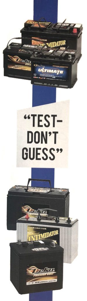 Test, Don't Guess battery logo